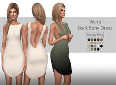 Sims 4 CC's - The Best: Vieira Back Bone Dress by Simply King