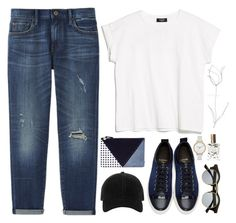 """""""Be Minimalist"""" by lolipop132 ❤ liked on Polyvore featuring Lanvin, MANGO, Uniqlo, Clare V., rag & bone, Skagen, Retrò, Mullein & Sparrow and Blume"""