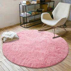 YOH Super Soft Round Feet Area Rugs for Bedroom Kids Rooms Living Room Playroom Fluffy Boys Girls Baby Kids Children Rugs for Bedroom Home Nursery Décor Yoga Mats for Women Popular Colors,Pink Nursery Rugs, Baby Nursery Decor, Baby Bedroom, Kids Bedroom, Living Room Playroom, Rugs In Living Room, Rooms Home Decor, Bedroom Decor, Boy Girl Room