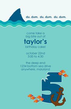 shark party invitation | shark birthday invite | swim, sharks and, Party invitations