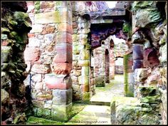 """Wander the ancient hallways of Crichton Castle in the Lothians, Scotland. Find out more at """"Down the Wrabbit Hole - The Travel Bucket List"""". Click the image for the blog post."""