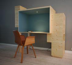 kantoor in woonkamer