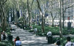 Bryant Park, NYC.  Great place to sit and eat lunch, or read, or people watch...