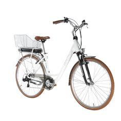 """Classic Comfort 28"""" von der Schweizer Traditions-und Designmarke Zenith in der Farbe pearl. Mit Lithium Akku, für bis zu 70km Reichweite ohne Aufladung. Inklusive Gepäckträger, Beleuchtung, Schutzblech und Ladegerät und  Velokorb. Citylife und Schnelligkeit - ohne Schwitzen ins Büro. Bicycle, Vehicles, Veils, Lighting, Color, Bicycle Kick, Rolling Stock, Bike, Bmx"""