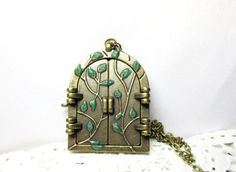 Fairy Door Necklace   Antique Bronze fairy by BeautyJewelryGifts, $19.00.  Adorable!  Another want!