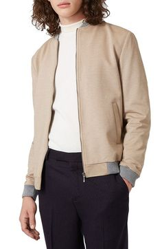Topman Jersey Bomber Jacket available at #Nordstrom