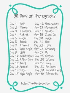 37 Photo Challenges for 2015 Ready Set Click! 37 Photo Challenges for 2015 The post Ready Set Click! 37 Photo Challenges for 2015 appeared first on Fotografie. Photography Day, Photography Challenge, Photography Lessons, Photography Projects, Creative Photography, Digital Photography, Amazing Photography, Photography Tutorials, Portrait Photography