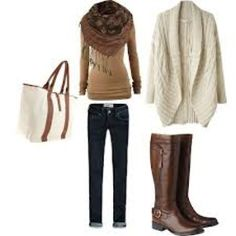 Winter clothes!!!! LOVE the white cardigan <3 <3 <3 <3