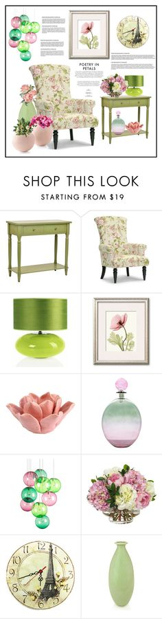 """""""Flowers"""" by hastypudding ❤ liked on Polyvore featuring interior, interiors, interior design, home, home decor, interior decorating, Baxton Studio, HomArt, Fatboy and Diane James"""