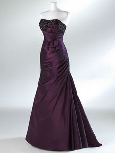 Violet Beaded/Lace Strapless Lace-Up  Party/Ball/Prom/Evening/Formal Dress Sz 12 #BallProm