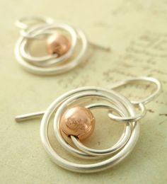 Cute little silver earrings - So easy to do.