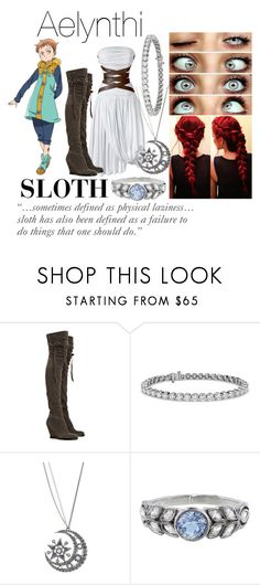 """Aelynthi #2"" by style-freak13 ❤ liked on Polyvore featuring CÉLINE, Camilla Skovgaard, Blue Nile, Betsey Johnson and Cathy Waterman"