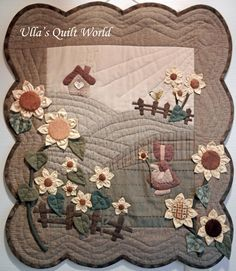 Ulla's Quilt World: Sue Bonnet quilt - wall hanging