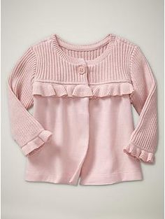 ruffled cardigan up to 24 months