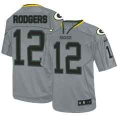 Nike Limited Aaron Rodgers Lights Out Grey Men's Jersey - Green Bay Packers #12 NFL