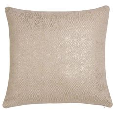 White and Gold Cotton Cushion Cover  | Maisons du Monde