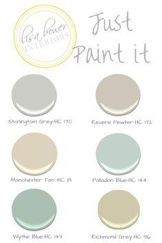Favorite paint colors. Whole house palette
