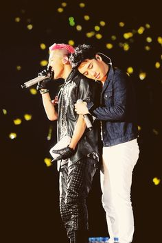 Big Bang's G-Dragon & Seungri (I think).