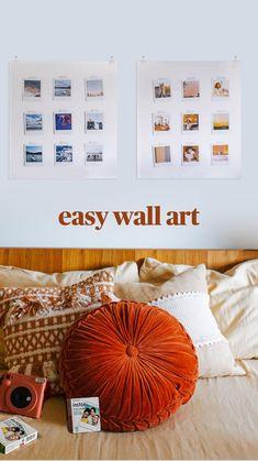 Polaroid Wall, Simple Wall Art, Shelfie, Diy Home Crafts, Dream Rooms, Autumn Home, Diy Storage, Wall Design, Room Inspiration