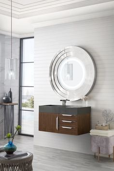 "36"" Mercer Island Single Sink Bathroom Vanity, Coffee Oak – VANITIES EXPO"