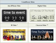 The Countdown Timer gadget was designed to work with Windows 7 but there should be no problem running it in Vista.
