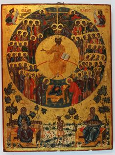 All Saints and All Souls — Bernardine Cistercians Byzantine Icons, Byzantine Art, Lives Of The Saints, All Saints, Religious Icons, Religious Art, Black Jesus, 12 Tribes Of Israel, Jesus Art