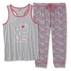 55ad808bab4 Joe Boxer Women s Pajama Top  amp  Capris - Love