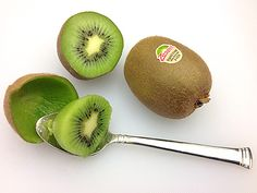 Kiwi is easy to eat. Just cut, scoop with a spoon and enjoy. ‪Kiwi is a nutritional powerhouse, good source of fiber, folate, vitamin E and antioxidants. Enjoy one today for your health. Good Source Of Fiber, Bountiful Harvest, For Your Health, Fruit, Kitchen Tips, Vitamin E, Kiwi, Spoon, Favorite Recipes