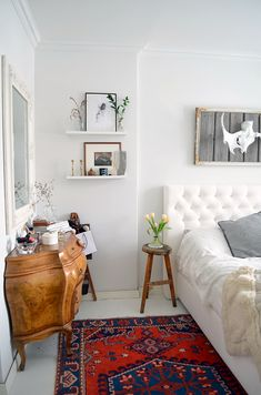 Modern and bright with a vintage rug