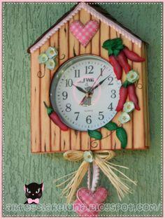 Artes Clar&Luna - Relógio de parede