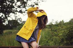 Always wear yellow in the rain.