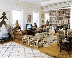 Madeline Weinrib's SoHo loft. Living room. NYC apartment, New York apartment, Manhattan apartment, ny apt, city living.