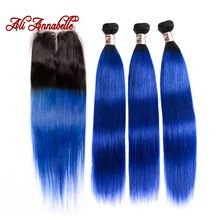 ALI ANNABELLE HAIR Straight Ombre Brazilian Hair 3 Bundles with Closure 1b/Blue Remy Ombre Human Hair Weave & Lace Closure     Wholesale Priced Wigs, Extensions, And Bundles!     FREE Shipping Worldwide     Buy one here---> http://humanhairemporium.com/products/ali-annabelle-hair-straight-ombre-brazilian-hair-3-bundles-with-closure-1b-blue-remy-ombre-human-hair-weave-lace-closure/  #human_hair