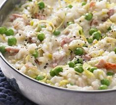 Oven-baked leek & bacon risotto