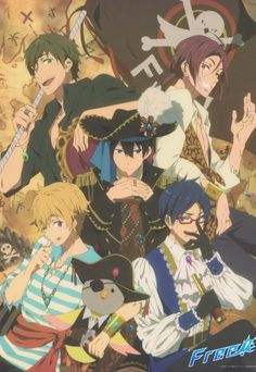 Makoto, Rin, Haruka, Nagisa and Rei - Pirates *-* 5 Anime, Fanarts Anime, Free Anime, I Love Anime, Anime Characters, Awesome Anime, Otaku, Rin Matsuoka, Haruka Nanase