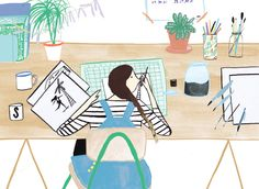 Sir Magazine - The workspace of Stephanie Ginger