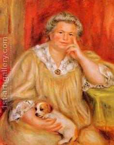 Madame Renoir With Bob by Pierre Auguste Renoir