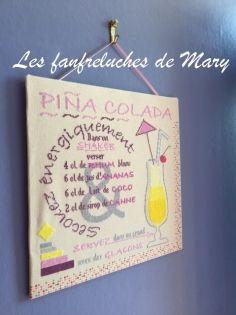 Cocktail : pina colada (fm1706a - grille point de croix en pdf)