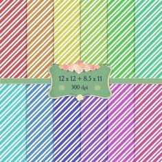 Digital Paper Digital Celebration Parallel Event Single Birthday Scrapbook Holiday Greeting Scrapbooking Abstract Diagonal Striped Fun
