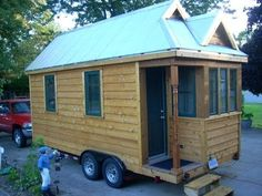 UPDATE:   Ive been building on it for almost 5 1/2 months (10 months in all-bad weather).  The harsh winter did set me back a bit.  If you have any questions please message me and feel free to leave a comment.  BTW the house with trailer weighs 5600 lbs. The materials cost for building this tiny house runs $22,000.00. For those of you who would...