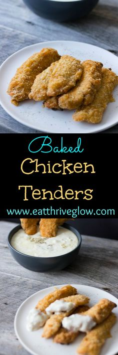 This is the best baked chicken tenders recipe-southern comfort food made with buttermilk and bread crumbs. Easy, delicious, and healthy!