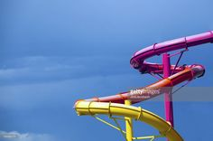 Farbige Wasserrutschen : Stock-Foto