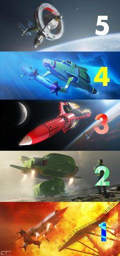 The full set in one epic collage. :) @ThunderbirdsHQ #ThunderbirdsAreGo