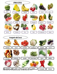 Fruit or vegetable Printable worksheets | fruits and vegetables worksheet - Free…