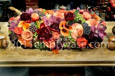 beautiful flowers for the center of a table. Lovely for Fall.