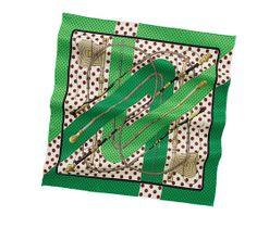 Vintage hermes scarf.  Green.
