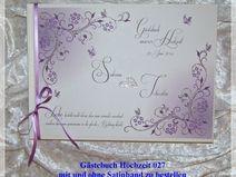 Gästebuch Hochzeit,Flieder,Farbwahl,Gästebücher,27