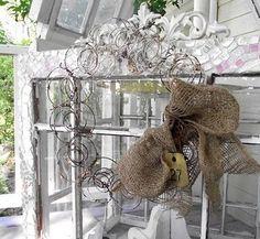 mattress springs wreath
