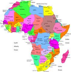 map africa Africa Map africa country map Map of Africa Africa Map africa map capitals Africa Map south africa map africa political map bigge. West Africa, North Africa, African Countries Map, Africa Continent Map, Political Pictures, Map Pictures, Printable Maps, Free Printable, Country Maps