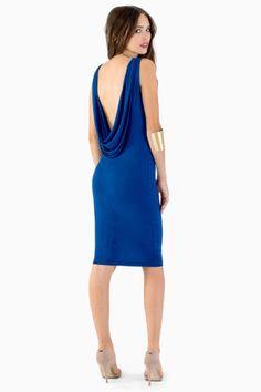 Mackenzie Blue Midi Dress